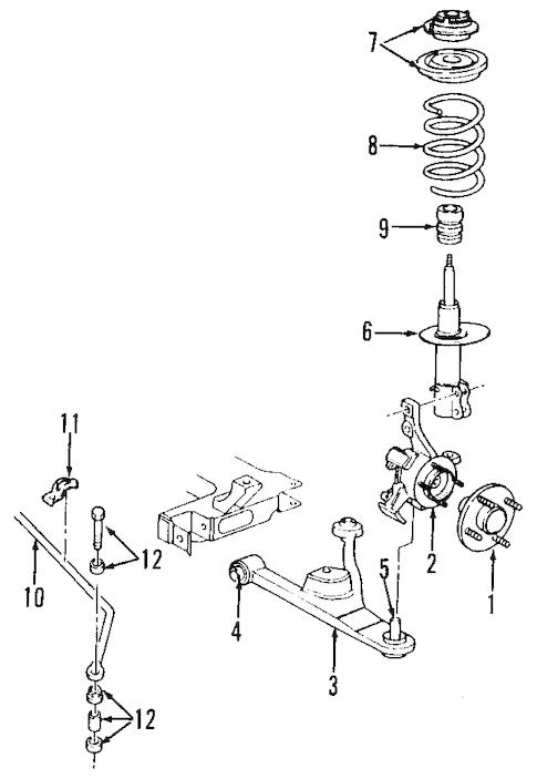 Suspension Components for 2002 Chrysler PT Cruiser Parts