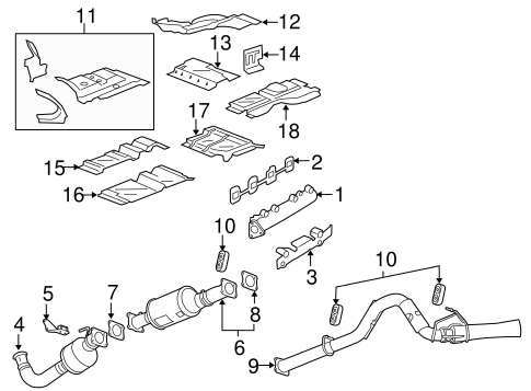 OEM Exhaust Manifold for 2016 Chevrolet Express 3500