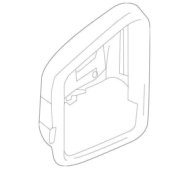 2012-2013 Mercedes-Benz Mirror Cover 212-810-08-64-7779