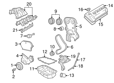 ENGINE PARTS for 2002 Jeep Liberty