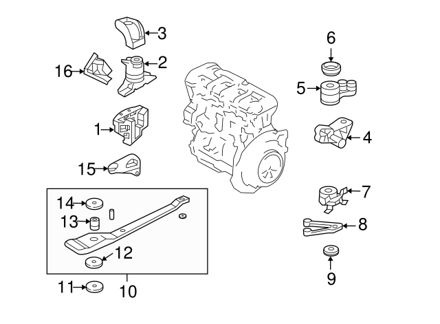 Genuine Ford Escape Mount YL8Z-6038-AA