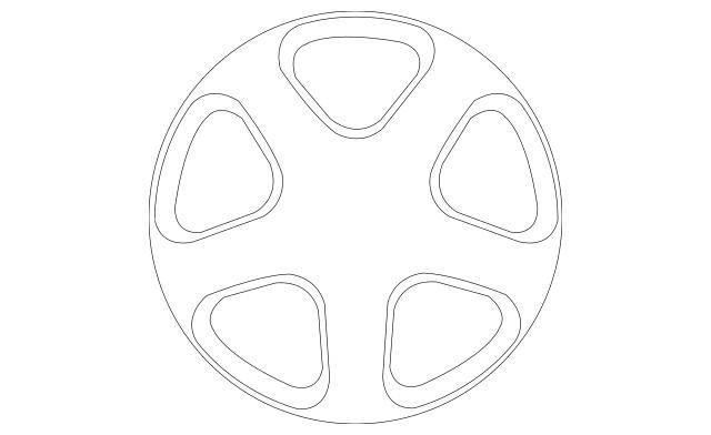 1999-2003 Mazda Protege Wheel, Alloy 9965-35-6060