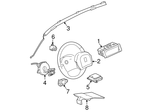 OEM AIR BAG COMPONENTS for 2008 Chevrolet Equinox