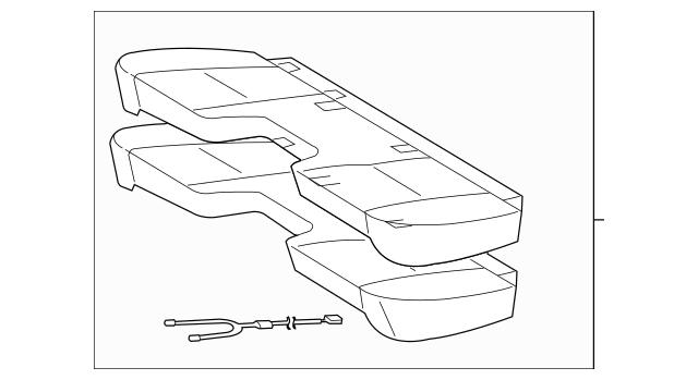2010-2014 Toyota Tacoma Cushion Assembly 71002-04091-B0