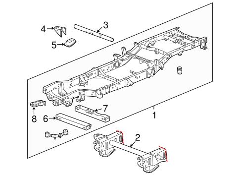 Frame & Components for 2011 Chevrolet Silverado 1500