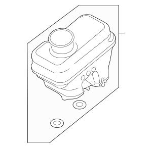 2009-2012 Ford Master Cylinder Reservoir 9M6Z-2L454-A
