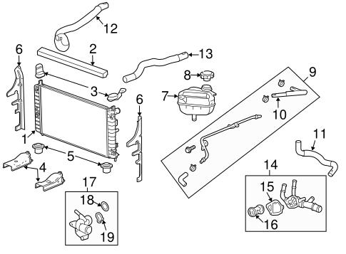OEM 2008 Pontiac G6 Radiator & Components Parts
