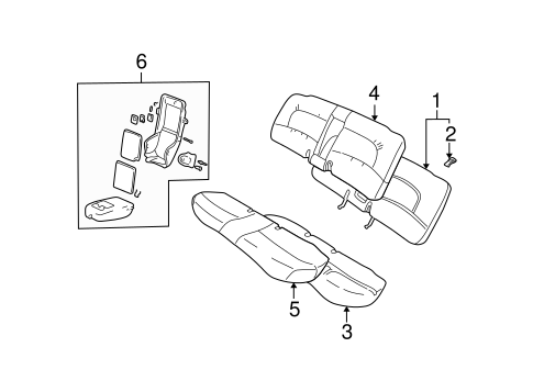 REAR SEAT COMPONENTS for 2005 Pontiac Bonneville