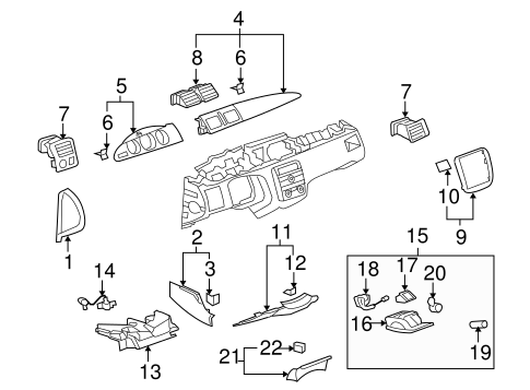 INSTRUMENT PANEL COMPONENTS for 2009 Buick Lucerne