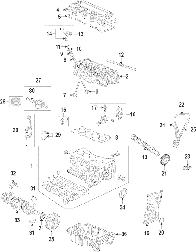 2009-2013 Honda FIT 5-DOOR Pan Assembly, Oil 11200-RB0-000
