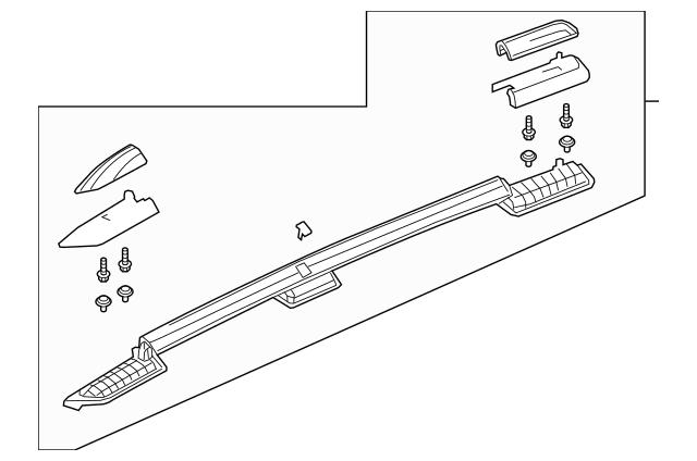 Genuine OEM 2019-2020 Honda PASSPORT 5-DOOR Rail Assembly
