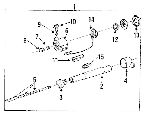 STEERING COLUMN ASSEMBLY for 1989 Chevrolet Cavalier (Z24)