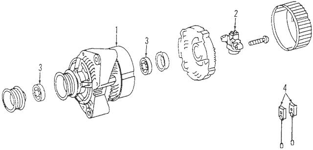 1998-2004 Mercedes-Benz SLK 230 Voltage Regulator 003-154