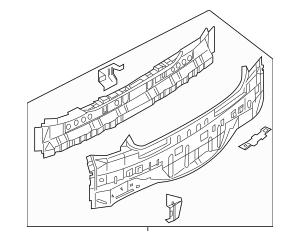 2005-2006 Infiniti G35 Rear Body Panel 79110-AC530