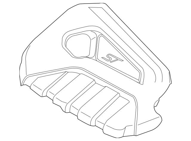 2014-2018 Ford Fiesta Engine Cover C1BZ-6A949-B