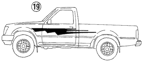 Genuine OEM Stripe Tape Parts for 1992 Toyota Pickup Base