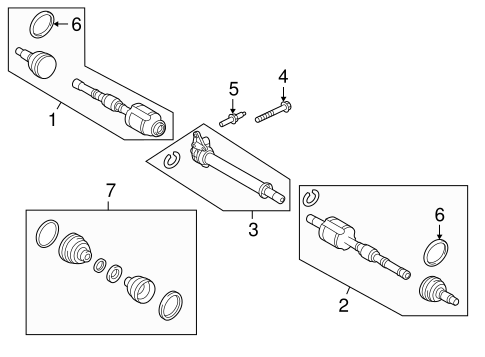 2014 Ford Edge Front Suspension Diagram. Ford. Auto Parts