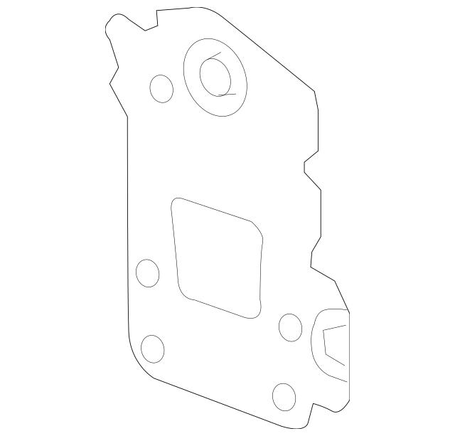 2012-2019 Chevrolet Sonic Rear Body Panel Anchor Plate