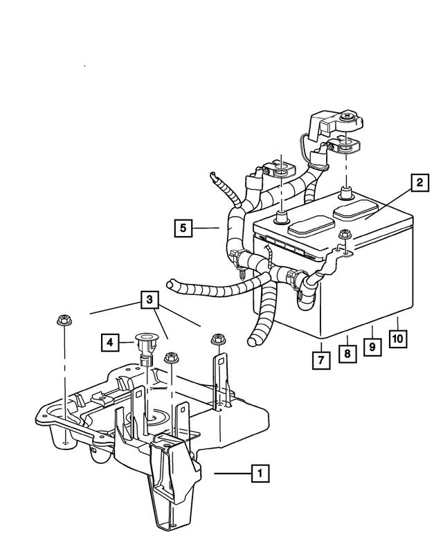 OEM Mopar Alternator And Battery Wiring For 2004 Jeep