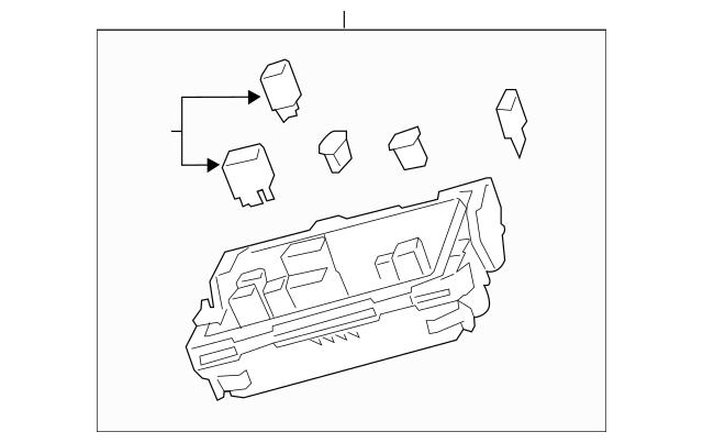 2013-2015 Cadillac ATS Fuse & Relay Box 23278410