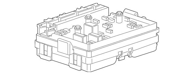 2004-2006 Isuzu Ascender Fuse & Relay Box 8151975290
