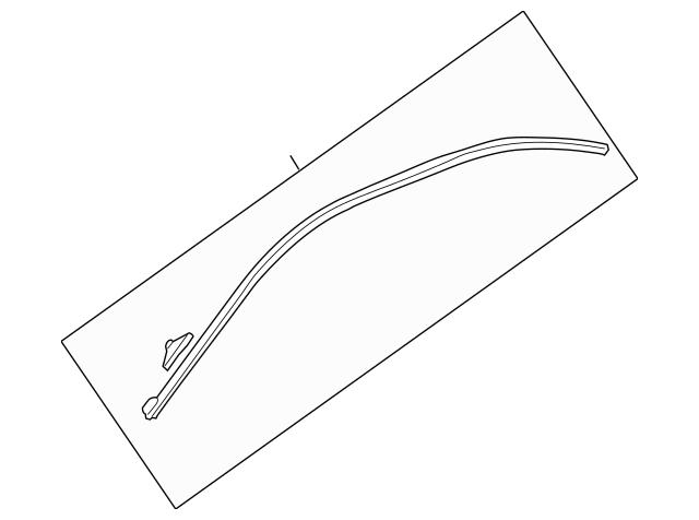 Genuine OEM Molding, L Drip Roof Part# 72465-S0K-A01 Fits