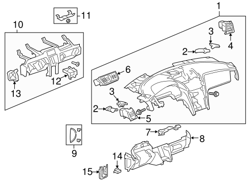 Instrument Panel for 2016 Chevrolet Traverse