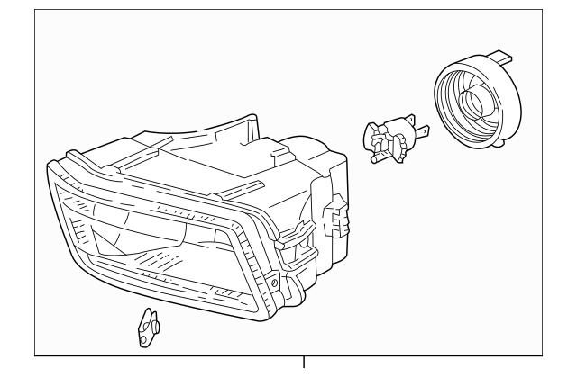 Original Fog Light Unit, L for 1999-2004 Acura RL SEDAN