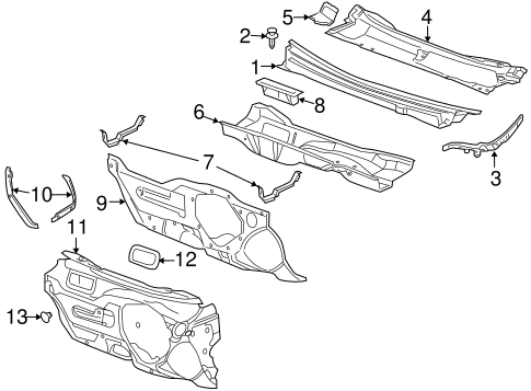 COWL Parts for 2012 Chevrolet Malibu