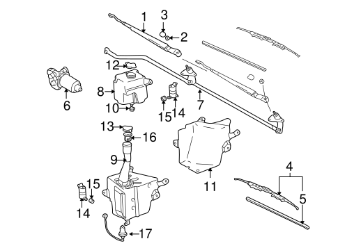 Genuine OEM Wipers Parts for 1996 Toyota Tacoma Base