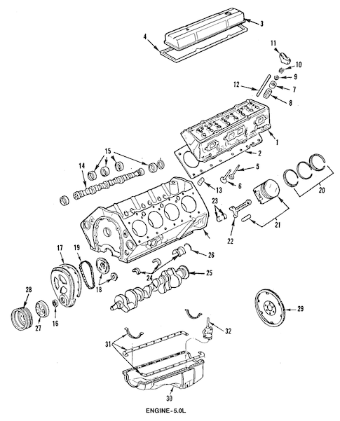 OEM ENGINE PARTS for 1986 Chevrolet El Camino