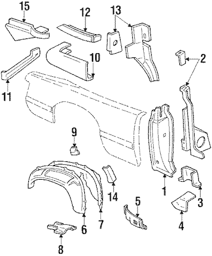 INNER STRUCTURE for 1993 Ford Mustang
