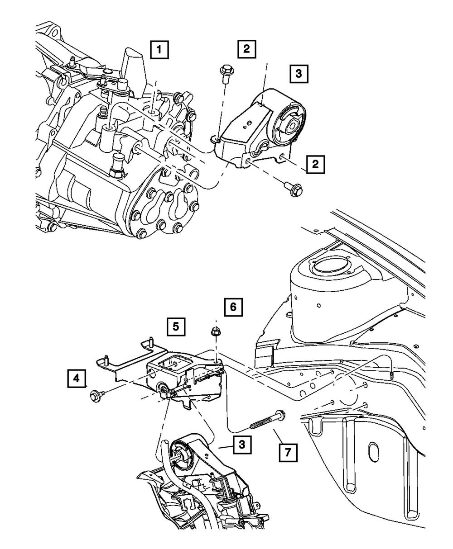 OEM NEW Mopar 2000-05 Dodge Neon Transmission Engine Mount