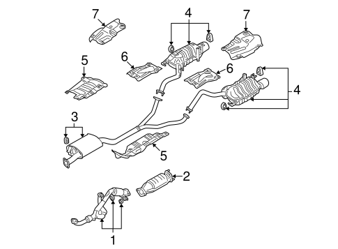 EXHAUST COMPONENTS for 2007 Hyundai Santa Fe