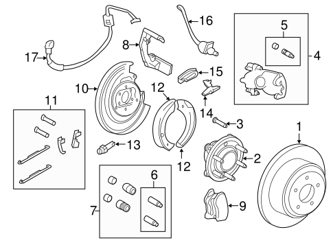 BRAKE COMPONENTS for 2010 Lincoln Navigator