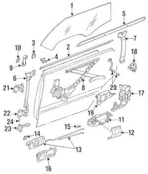 1990-1994 Subaru Legacy Belt Weather-Strip Retainer