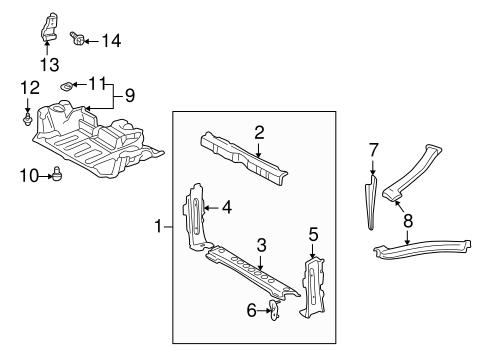 Genuine OEM Splash Shields Parts for 2001 Toyota MR2
