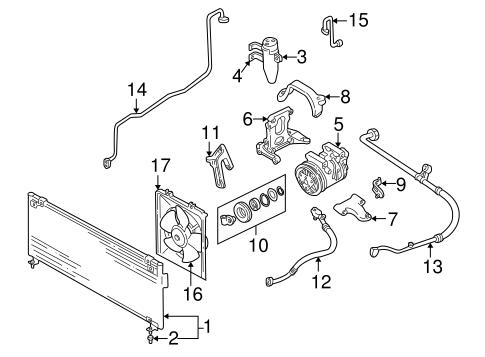 Condenser, Compressor & Lines for 2001 Subaru Impreza