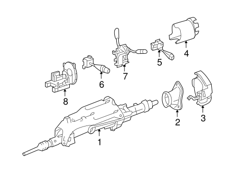 Steering Column Assembly for 2009 Mercedes-Benz ML 350