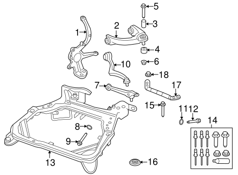 SUSPENSION COMPONENTS for 2008 Ford Fusion