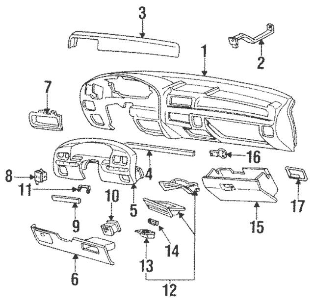 Ford F150 F250 F350 Bronco Black Dashboard Panel