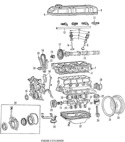 Genuine OEM Oil Pump Parts for 1984 Toyota Celica GT