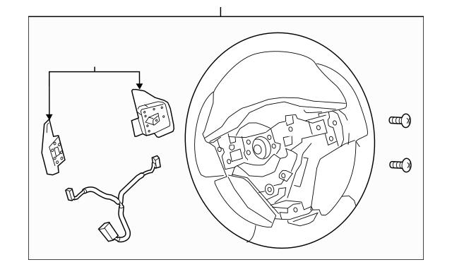 2014-2018 Toyota Corolla Steering Wheel 45100-02W20-C0