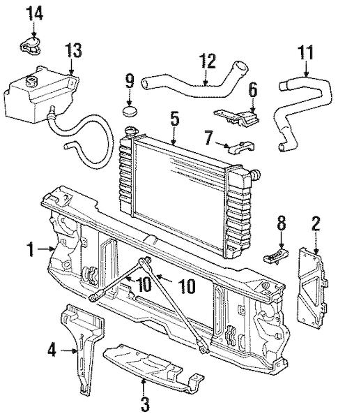 OEM RADIATOR SUPPORT for 1990 Chevrolet K2500 Pickup