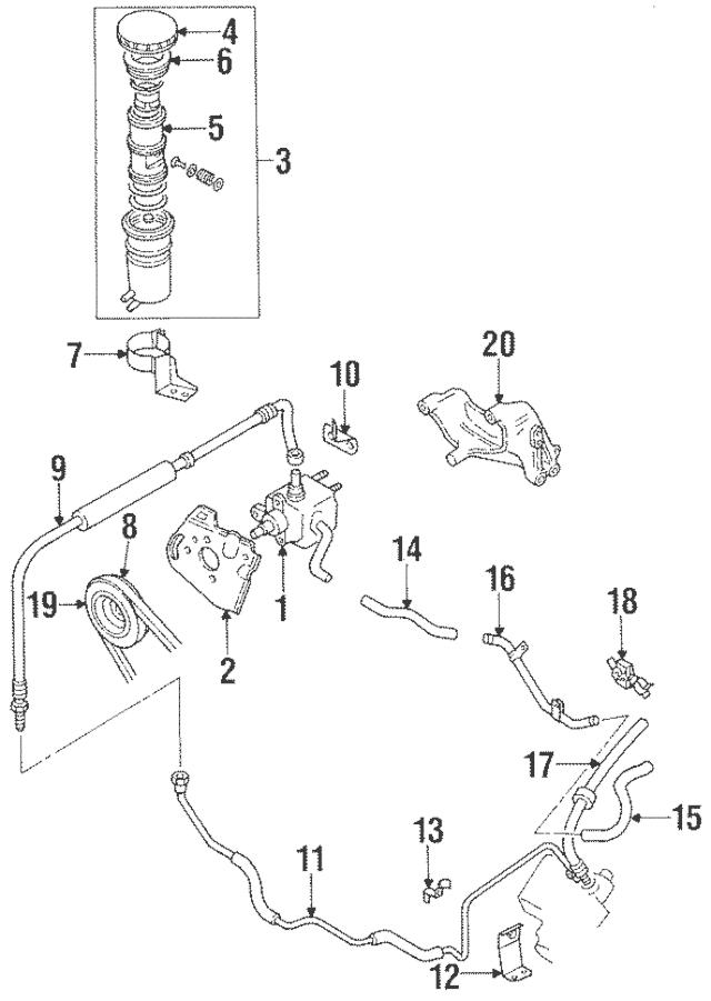 1984-1997 Isuzu Power Steering Pump Mount Bracket