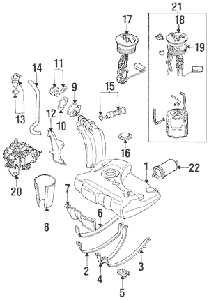Fuel System Components for 1995 Volkswagen Jetta