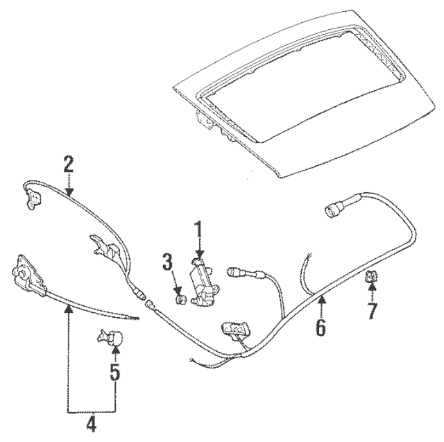1995-1998 Porsche 911 Wire Harness Clip 113-142-261-A