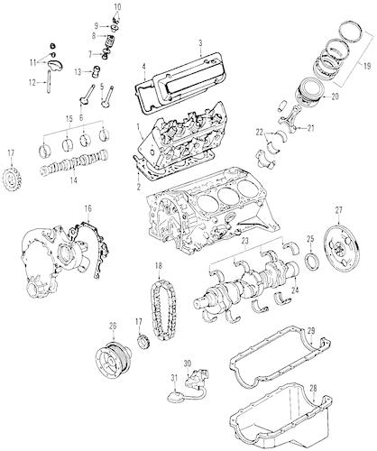 ENGINE PARTS for 2003 Buick Century (Custom)