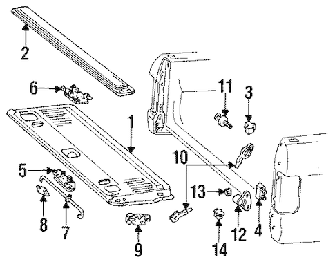 TAILGATE for 1996 Ford F-250