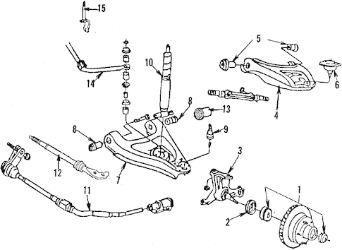 Front Suspension for 1986 Chrysler Fifth Avenue Parts